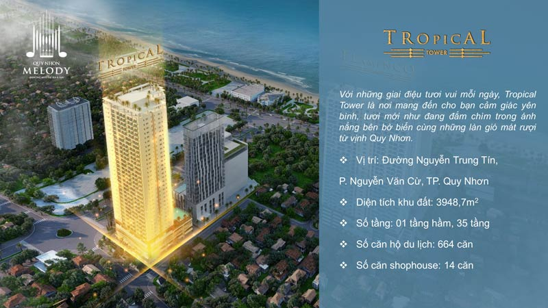 Block Tropical dự án Quy Nhơn Melody