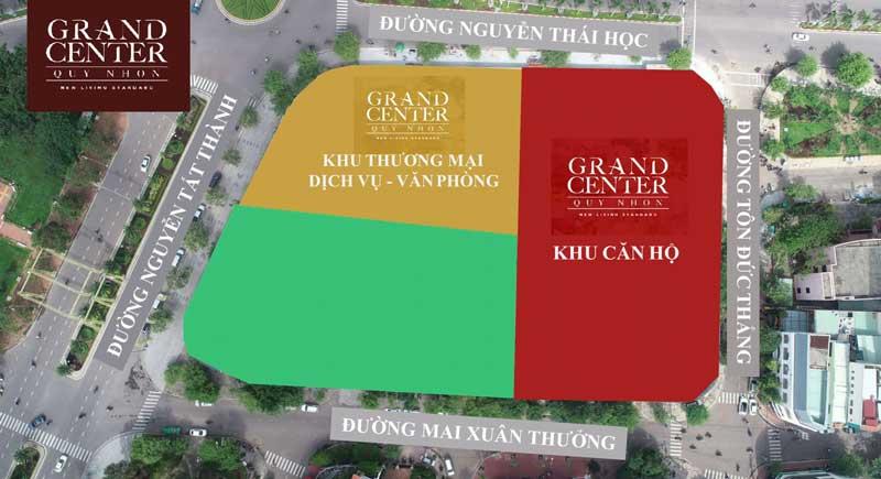 Mặt bằng căn hộ Grand Center Hưng Thịnh