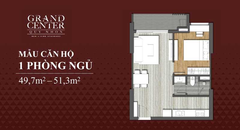 Thiết kế Grand Center 1 phòng ngủ