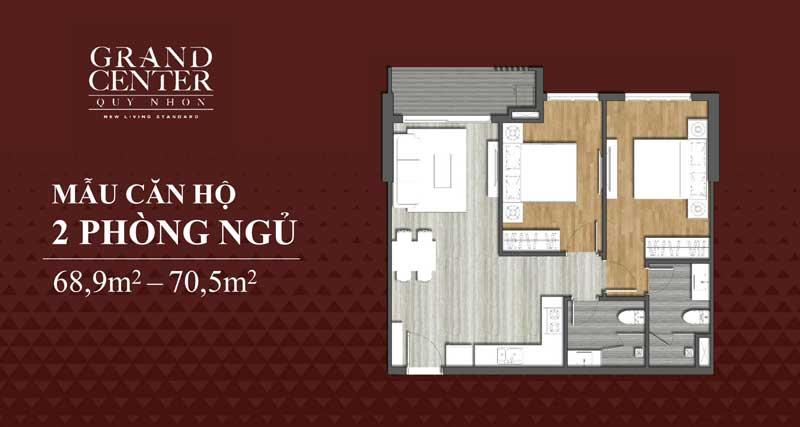 Thiết kế Grand Center 2 phòng ngủ