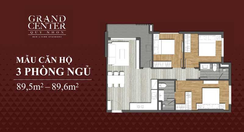Thiết kế Grand Center 3 phòng ngủ