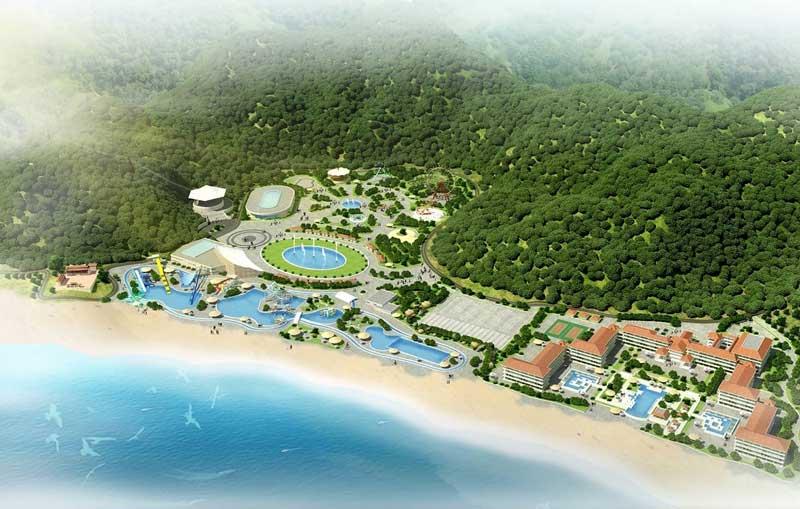 Phối cảnh khu du lịch Hải Giang Merry Land