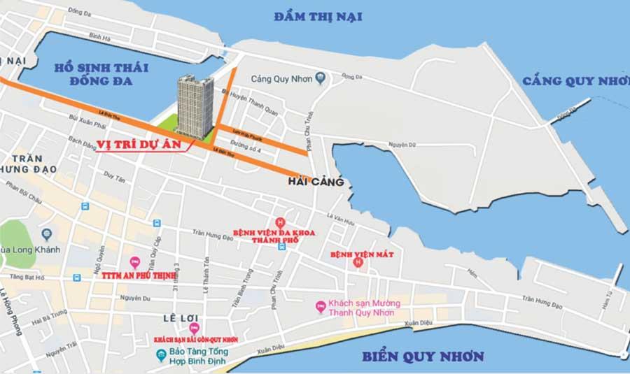 Vị trí dự án chung cư Phú Tài Residences