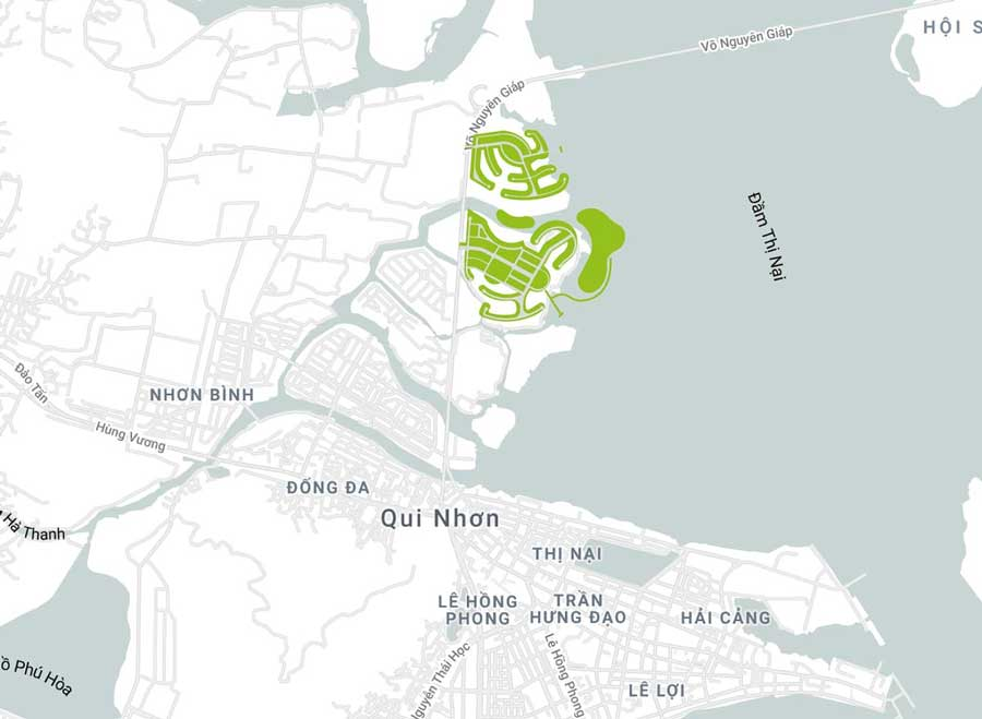 Vị trí Dự án EcoBay Thị Nại Quy Nhơn