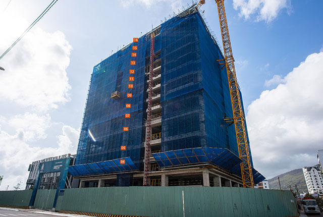 Tiến độ thi công dự án căn hộ Quy Nhơn Melody tháng 2/2021