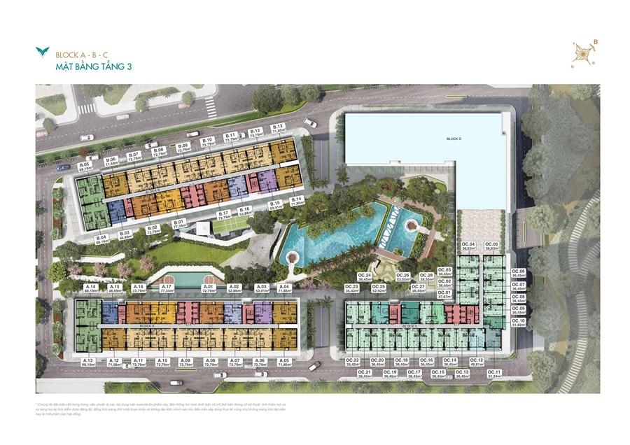 Mặt bằng tầng 3 căn hộ Lavita Thuận An