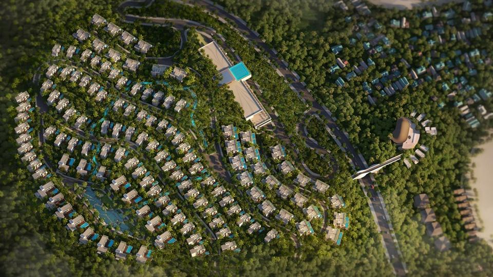 Phối cảnh tổng quan biệt thự đồi Casa Marina Premium