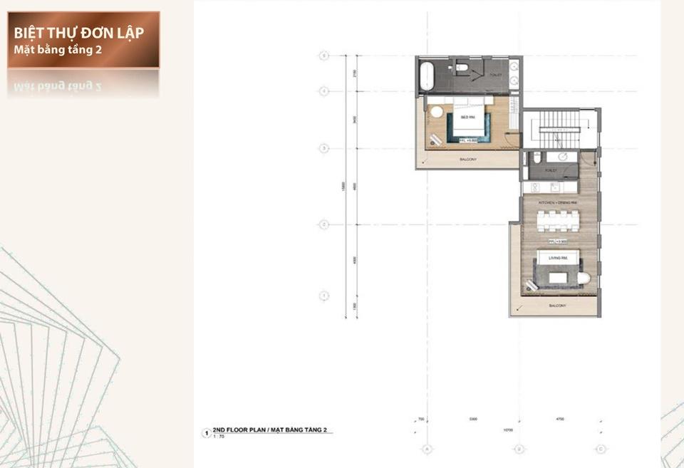 Thiết kế chi tiết biệt thự đơn lập