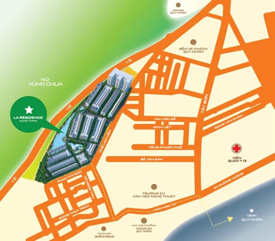 Vị trí La Residences Hưng Thịnh Ghềnh Ráng