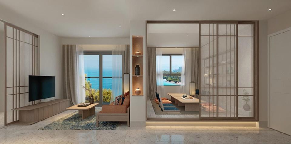 Căn hộ mẫu dự án căn hộ Takashi Ocean Suite Kỳ Co Nhơn Hội