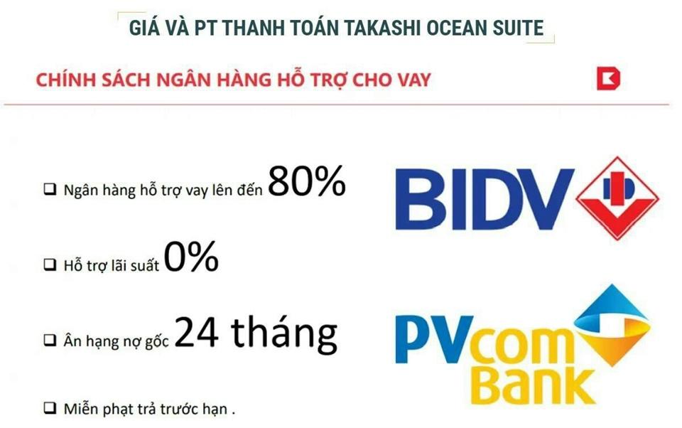 Chính sách ngân hàng hỗ trợ dự án Takashi Ocean Suite Nhơn Hội