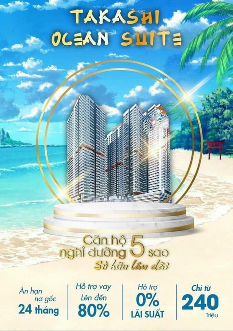 Chính sách bán hàng dự án Takashi Ocean Suite