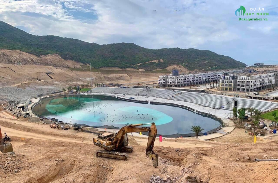 Hình ảnh tổng quan tiến độ thi công Merry Land Hải Giang