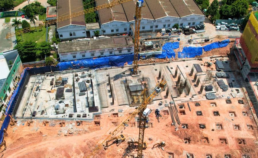 Hỉnh ảnh tổng thể tiến độ thi công dự án Lavita Thuận An Block B