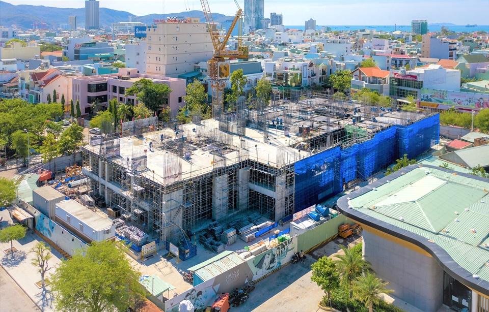 Tiến độ thi công căn hộ Grand Center Quy Nhơn tháng 8/2021