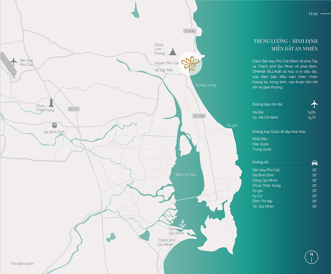 Vị trí dự án thiền tự Ohana Village Quy Nhơn